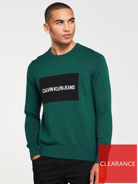 e037eed3388 Calvin Klein Jeans CK Jeans Institutional Box Logo Sweat