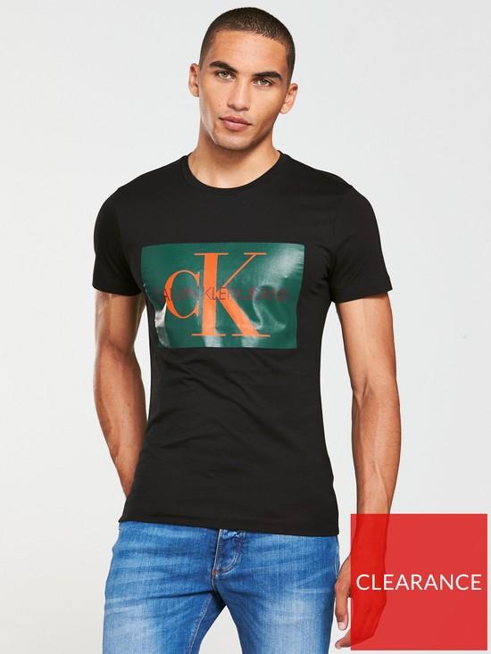 abdf02b1 Calvin Klein Jeans CK Jeans Monogram Box Logo Slim T-Shirt | very.co.uk
