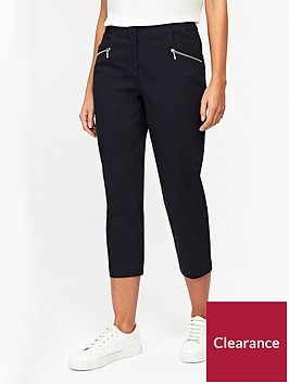 wallis-petite-cotton-stretch-crop-trouser-black