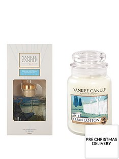 yankee-candle-clean-cotton-large-jar-candle-and-reed-diffuser-set