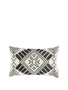 bianca-cottonsoft-bianca-aztec-embroidered-cushion