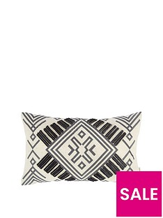 bianca-cottonsoft-bianca-aztec-embroidered-cushion