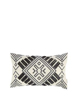 catherine-lansfield-bianca-aztec-embroidered-cushion