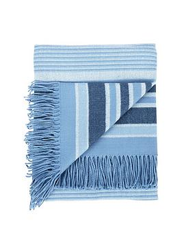 catherine-lansfield-woven-striped-blanket