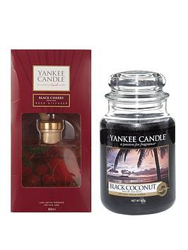 yankee-candle-black-coconut-large-jar-candle-and-black-cherry-reed-diffuser-set