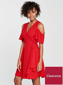 v-by-very-cold-shoulder-wrap-dress-red