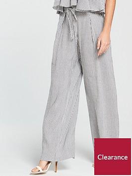 v-by-very-linen-straight-leg-trouser-stripe
