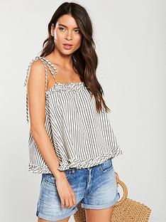 v-by-very-floaty-tie-strap-cami-mono-stripe