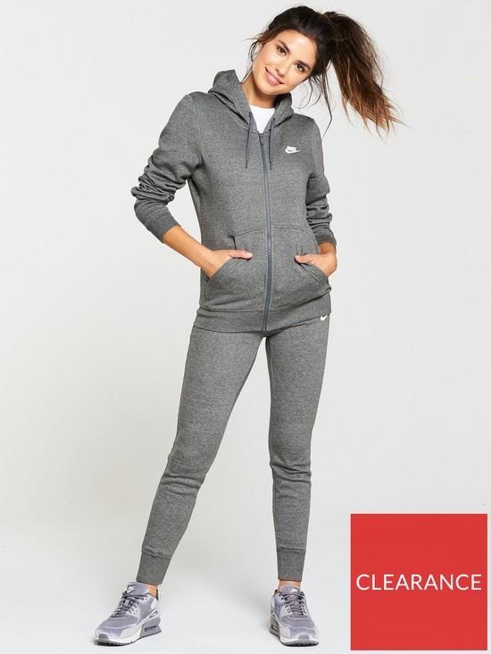 Nike Sportswear Fleece Tracksuit - Grey  2632cdecc