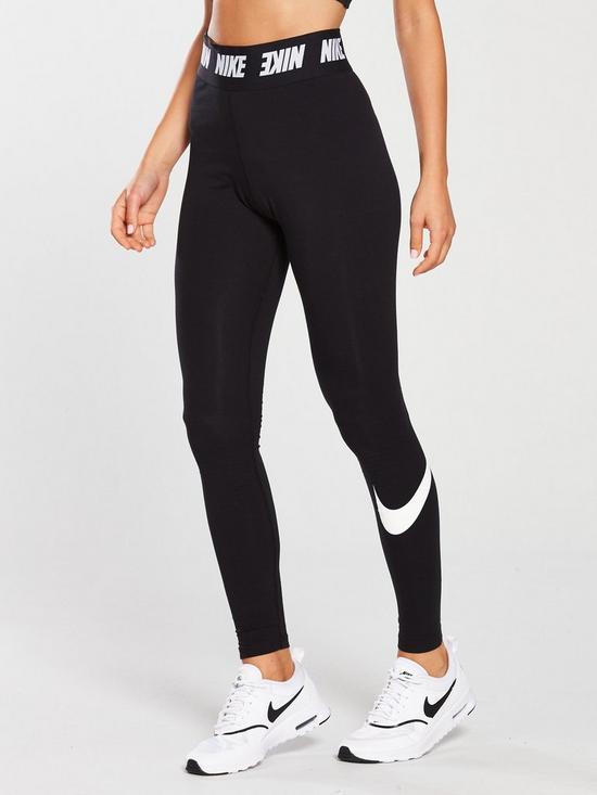 e4139850f8b84 Nike Sportswear Club Legging With Waist Detail - Black | very.co.uk