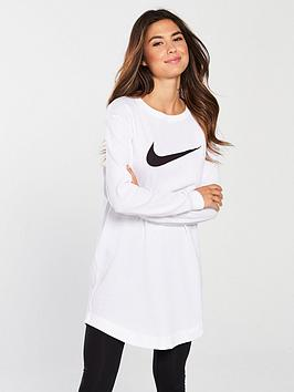 nike-sportswear-long-sleevenbsptunic-top-whitenbsp