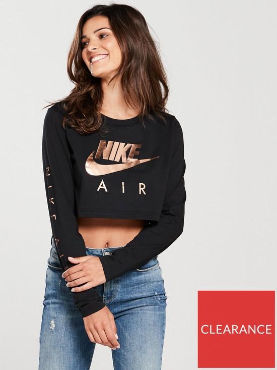 e8be354bb2de36 Nike Sportswear Air Long Sleeve Top - Black