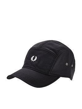 fred-perry-nylon-panel-cap-black