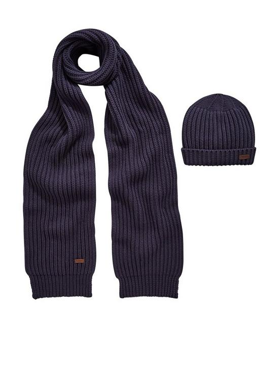 Barbour Barbour Chunky Rib Knit Scarf and Hat Gift Set  096290f21e6