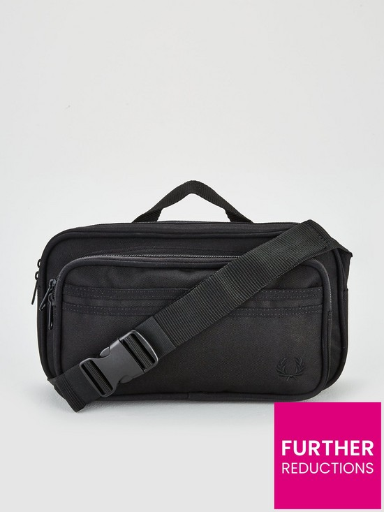 501d9a6d6 Fred Perry Twin Tipped Cross Body Bag - Black | very.co.uk