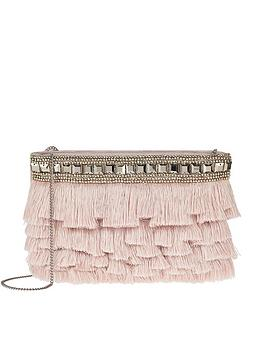 accessorize-siena-fringe-zip-top-clutch-bag-nudenbsp