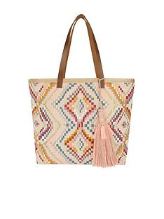 accessorize-layla-embroidered-beach-tote-bag