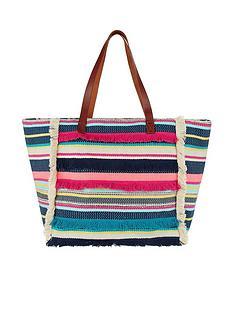 accessorize-multi-stripe-fringed-beach-tote-bag