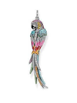 thomas-sabo-sterling-silver-hand-painted-large-parrot-pendant