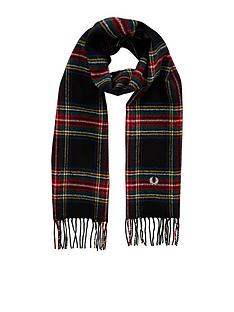 fred-perry-black-stewart-tartan-scarf