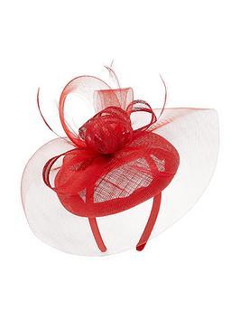accessorize-crin-pillar-box-fascinator-red