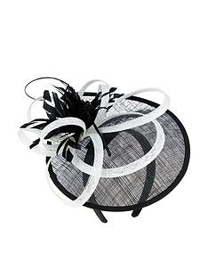 accessorize-teardrop-fascinator-blackwhite