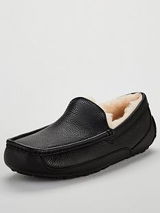 ugg-ascot-leather-slipper-black