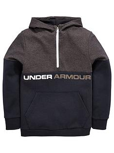 under-armour-boys-double-knit-12-zip-hoodie-blacknbsp