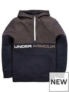 under-armour-boys-double-knit-12-zip-hoodie-blacknbsp