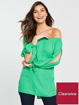 v-by-very-bardot-top-green