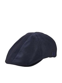 fred-perry-tonal-dobby-flat-cap-navy