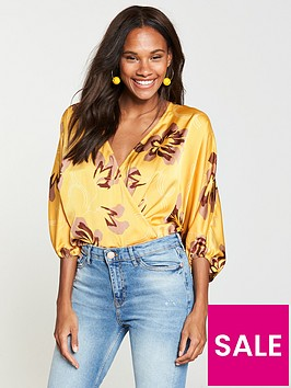 v-by-very-floral-print-bodysuit-yellow