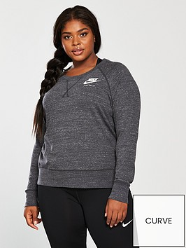 nike-gym-vintage-crew-sweat-top-curve-charcoalnbsp