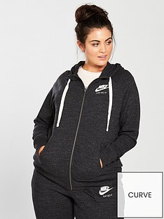 21953685b6a Nike (Curve) Full Zip Gym Vintage Hoodie - Black