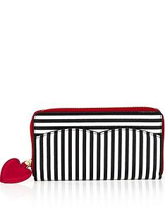 lulu-guinness-stripe-continental-purse-blackchalk