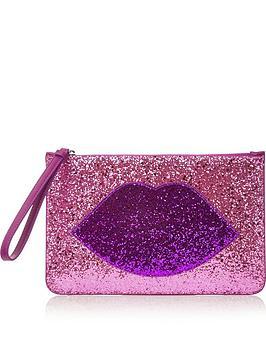 lulu-guinness-grace-glitter-lip-pouch-bag-pink