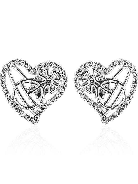 e5194e850 VIVIENNE WESTWOOD Giuseppa Stud Earrings - Silver | very.co.uk