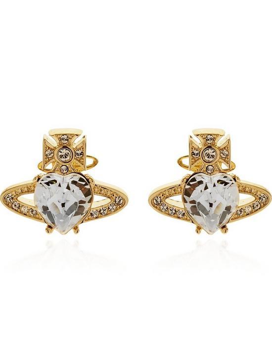 f9083a8ec VIVIENNE WESTWOOD Ariella Crystal Stud Earrings-Gold | very.co.uk