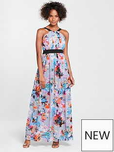 little-mistress-contrast-waistband-maxi-dress-printed