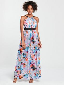 little-mistress-contrast-waistband-maxi-dress-printed