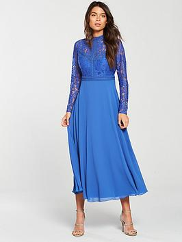 little-mistress-long-sleeve-lace-top-midi-dress-azure-blue
