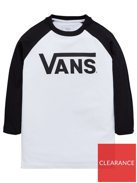 dd3a775cf4 Vans Boys Classic Raglan Tee - Black White