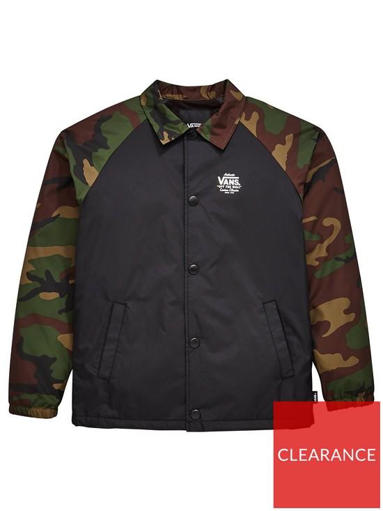 7a99aa8055 Vans Boys Torrey Coach Jacket - Black Camo. from £65