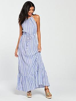 warehouse-stripe-maxi-dress-blue