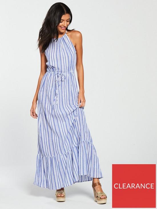 8f4cb077d9d Warehouse Stripe Maxi Dress - Blue
