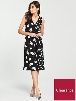 warehouse-floating-orchid-wrap-dress-black-print