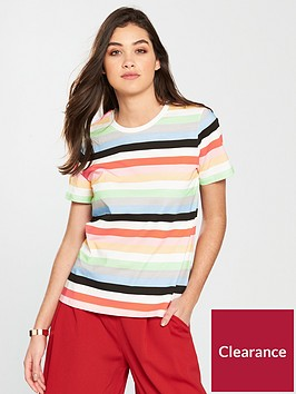 warehouse-vanessa-stripe-tee-multi
