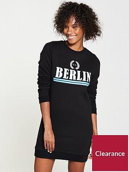 v-by-very-berlin-longline-sweat-dress-black
