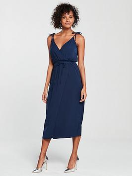 warehouse-tie-strap-wrap-dress