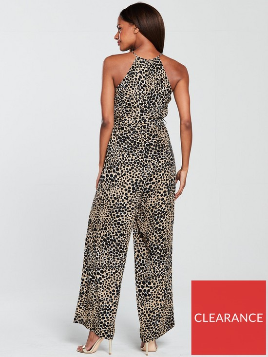 08c8d3837cc2 Warehouse Cheetah Jumpsuit - Stone